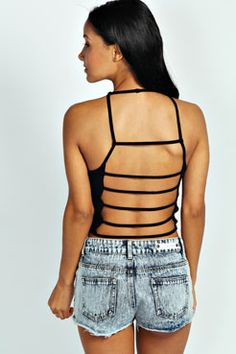Bryanna Ladder Back crop top / boohoo.com
