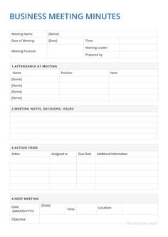 Business Notes, Business Planner, Business Meeting, Work Meeting, Business School, Work Planner, Meeting Planner, Weekly Planner, Meeting Agenda Template