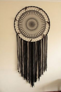 Giant dream catcher boho wall hanging by TheWovenDreamFactory