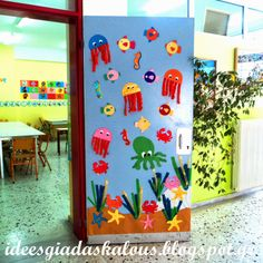 Under the sea door decoration