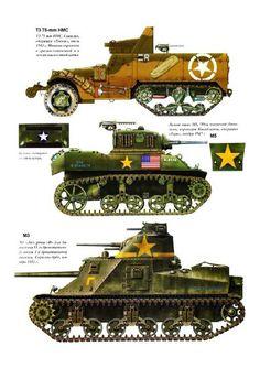 Half truck , Stuart light tank & early Sherman version