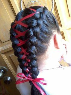 Double dutch ribbon braid