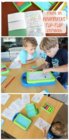Create an Adventure Flip-Flap Book - A great fine-motor based art project that is educational. Your kids will love creating or writing stories to go along with their flip books