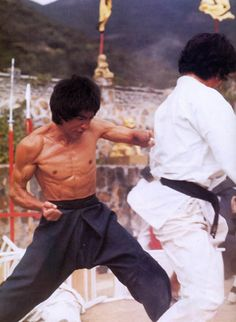 Bruce punch in Enter the Dragon