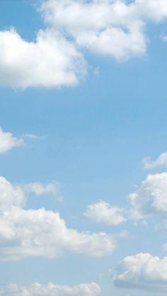 Blue Sky Wallpaper, Normal Wallpaper, Cloud Wallpaper, Blue Wallpapers, Light Blue Aesthetic, Aesthetic Art, Aesthetic Pictures, Blue Clouds, Sky And Clouds
