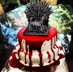 "Game of Thrones inspired ""Red Wedding"" cake."