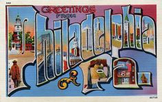 Greetings from Philadelphia, Pennsylvania - Large Letter Postcard by Shook Photos, via Flickr