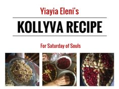 Soul Saturday is a special day in the Orthodox Church to remember those who have fallen asleep. It is tradition to prepare Kollyva and Prosforo for Church. Greek Recipes, Wine Recipes, Greek Wedding Traditions, Greek Icons, Orthodox Easter, Greek Easter, Bon Appetit, How To Fall Asleep, Meals