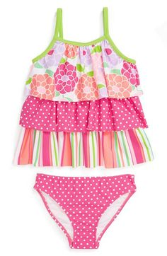 Love U Lots Tiered Two-Piece Swimsuit (Baby Girls) available at #Nordstrom