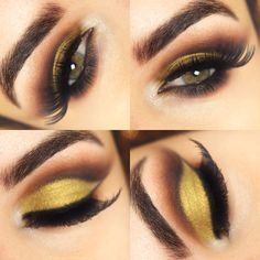Golden makeup/ make dourada/ cut crease ~ Pausa pra Feminices