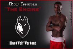 "BlackWolf Athlete (Ekow Essuman) ""THE ENGINE"" #blackwolfworkout #OurAthlete"
