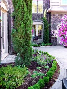 Landscaping with rocks front yard landscape with double for Landscaping rocks broward county