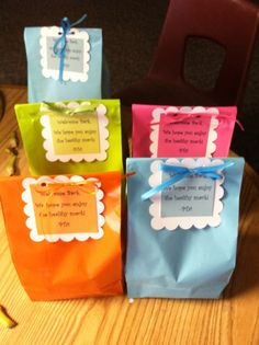 Welcome back snack bags for school staff