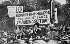 NUWSS (National Union of Women's Suffrage Societies) rally led by Millicent FawcettThe National Union of Women's Suffrage Societies (NUWSS), also known as the Suffragists (not to be confused with the suffragettes) was an organisation of women's suffrage societies in the United Kingdom.