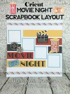 Cricut Movie Night Scrapbook Layout