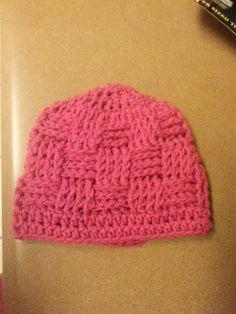 Weavebasket crochet beanie