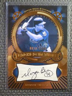 2004 Upper Deck Etchings MORGAN ENSBERG Auto Graph Etched in Time #ET-ME #/1325 #HoustonAstros