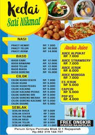 Hasil Gambar Untuk Daftar Menu Makanan Makanan Kedai Kopi
