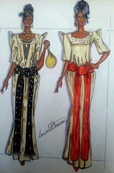 """Ugandan """"Gomesi"""", by Laurel for House of Dhauke."""