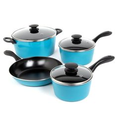 Cookware Set Pots And Pans Non-Stick Ceramic Coating 7 Piece Cooking Kitchen New *** Read more  at the image link.