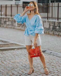 Eliana, What I Wore, Ruffle Blouse, Instagram, How To Wear, Tops, Women, Fashion, Moda