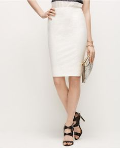 Primary Image of Textured Stretch Pencil Skirt