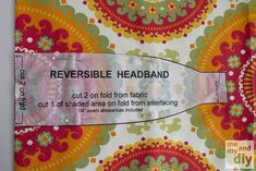 Me and My DIY: Reversible Headbands - A Beginning Sewer's Tutorial