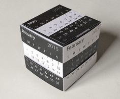 A cube calendar made of paper works like Rubiks Cube with full details to make it yourself
