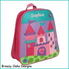 Check Out Personalized Princess Castle GoGo Bag School Book Toddler Backpack Diaper