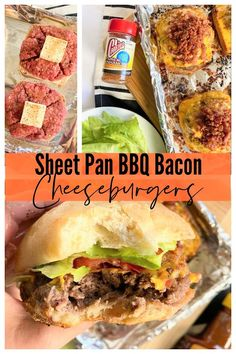 Bbq Bacon, Delicious Burgers, Sheet Pan, Slow Cooker Recipes, Crockpot Recipes, Best Sandwich Recipes, Bbq Seasoning, Oven, Burger Toppings