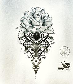 tattoos # rose # tattoo Article Physique: The New Yr is a Festiv Dna Tattoo, Mandala Tattoo, Leg Tattoos, Body Art Tattoos, Tribal Tattoos, Japanese Tattoos For Men, Rose Tattoos For Men, Japanese Sleeve Tattoos, Tattoos For Guys