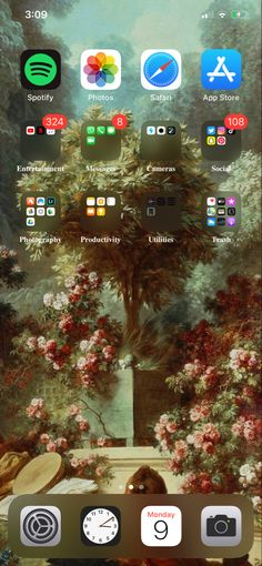 Iphone Wallpaper Landscape, Aesthetic Iphone Wallpaper, Organize Phone Apps, Iphone App Layout, Xmax, Phone Organization, Samsung, Homescreen, Organization Ideas