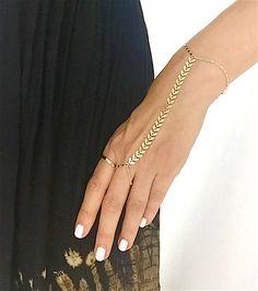 Gold Arrow Hand Chain Chain Hand Bracelet Slave Bracelet