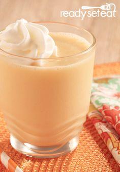This Orange Peach Smoothie is a refreshing summer treat.