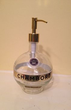 Chambord Bottle Soap Dispenser by thebirdchateau on Etsy, $38.00