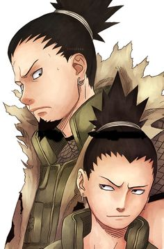"Rocking the man bun before it was popular | ""If your friends are truly important to you, before you think about running away, you should think about how to become a better ninja for your friends! That's how true friends are supposed to be!"" Nara Shikaku & Shikamaru; The Promise That Couldn't be Kept - Naruto E135"