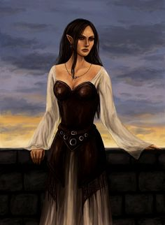 Half-elf by Aerenwyn.deviantart.com on @deviantART