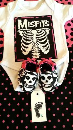CUSTOM order for AshleyMISFITS baby girls by KingstonsBabyKisses, $40.00