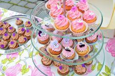 Mini cupcakes! Rose-vanilla, lemon-blueberry and chocolate