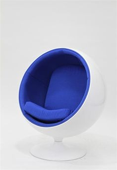 Eero Aarnio Style Kids Ball Chair Blue 600 Not That I Think