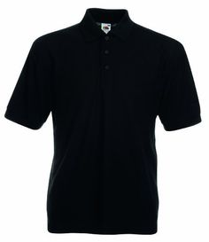 Fruit of the Loom Pique Polo Shirt 65% polyester/35% cotton. Taped neck. Three matching button placket. Reinforced shoulder seams. Cuffed sleeves. Twin needle stitching. WRAP Certified Production. S fits a chest size 35/37. M fits a chest size 38/40. L fits a chest size 41/43. XL fits a chest size 44/46. XXL fits a chest size 47/49. 3XL fits a chest size 50/52. 4XL fits a chest size 53/55. 5XL fits a chest size 56/58. Garment sizes are approximate and for guidance only.65% p