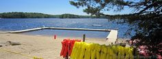 Medicine Bow Waterfront at Camp ‪#‎Yawgoog‬.  Image by David R. Brierley.