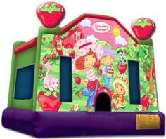 yay - strawberry shortcake bounce house - see if they have one in CA..