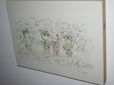 This sketch is by Shin Myeong-hwan of South Korea, and is titled Kitty Maniac's Non-complant Uniform. A man loved Hello Kitty so much, that when he reported for the compulsory military service (26 months for all men in South Korea), he showed up in a pink uniform with assorted Hello Kitty theming. /CC