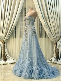 New Arrival Prom Dress,Modest Prom Dress,Flower wedding dress,blue