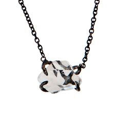Herkimer Crystal Necklace  - love the setting!