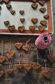 Cinnamon Applesauce Heart Ornaments  : katyelliott.com