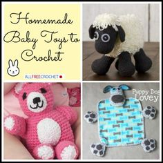 Homemade Baby Toys to Crochet - a great collection of free crochet patterns for baby!