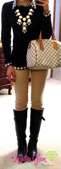 Khaki & boots