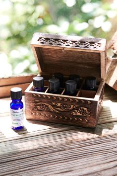 Essential Oil Wooden Storage Box - $19.95
